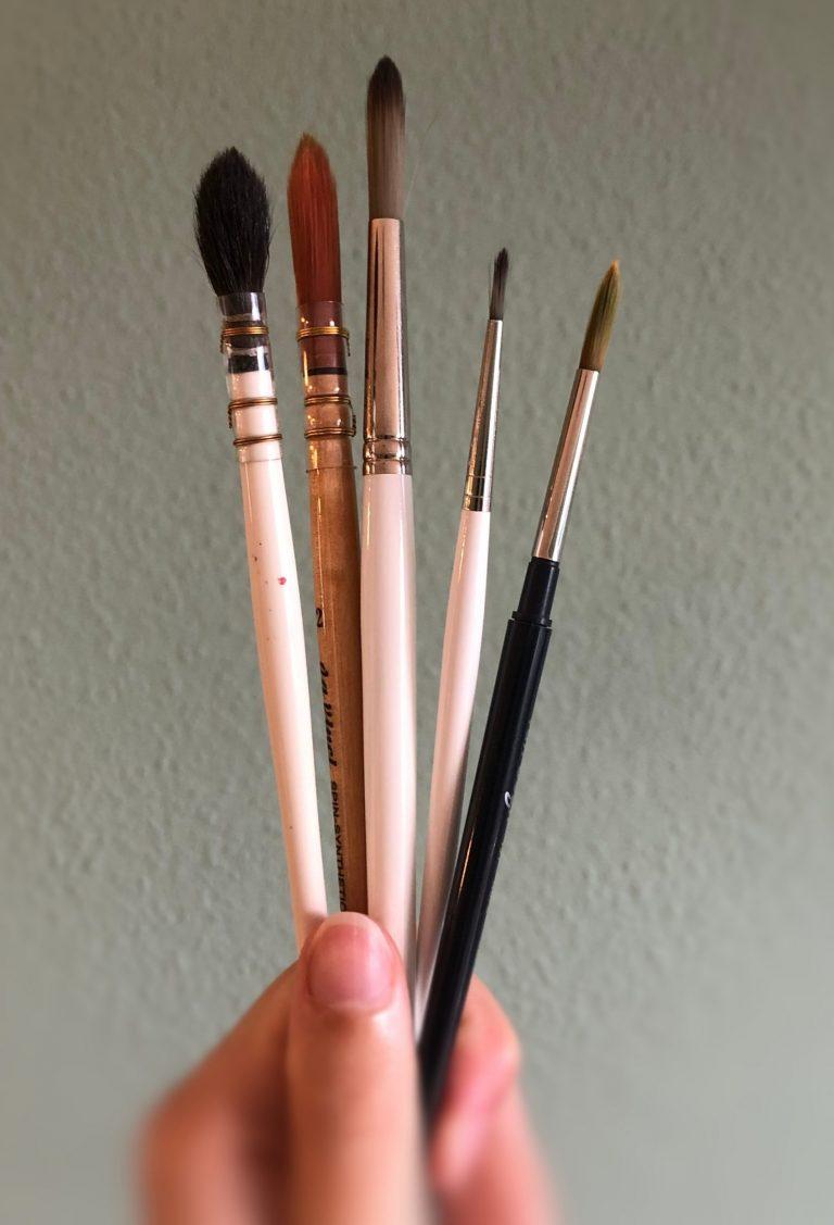 Aquarell malen für Anfänger Pinsel