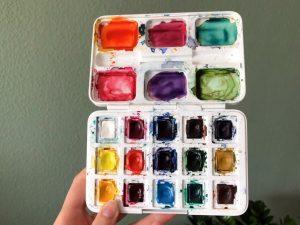 Aquarellfarbe Aquarellkasten