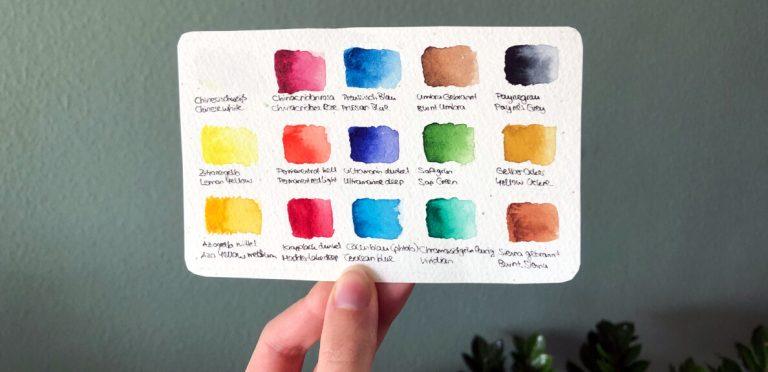 Aquarell lernen mit Farbkarte