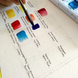 Aquarell lernen Farbkarte Step 2